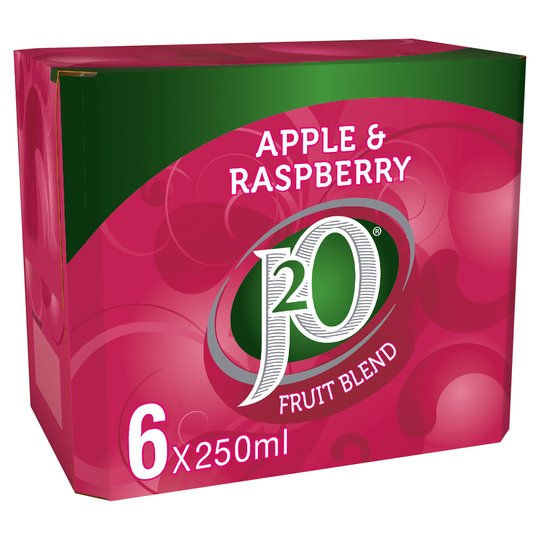 J2O Apple & Raspberry Fridge Pack 6 Cans
