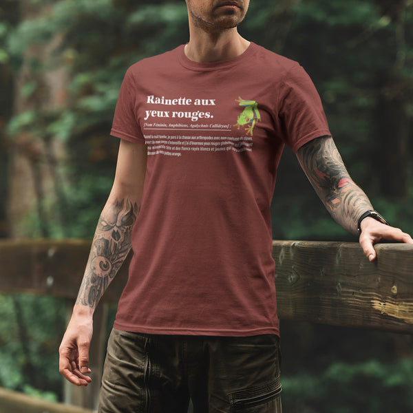 T-shirt Unisexe Rainette aux yeux rouges - Nature du Costa Rica