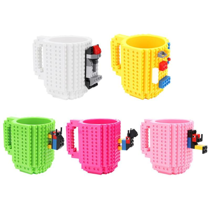 350ml Creative Milk Mug DIY Building Blocks Brick Drinking Water Coffee Cup