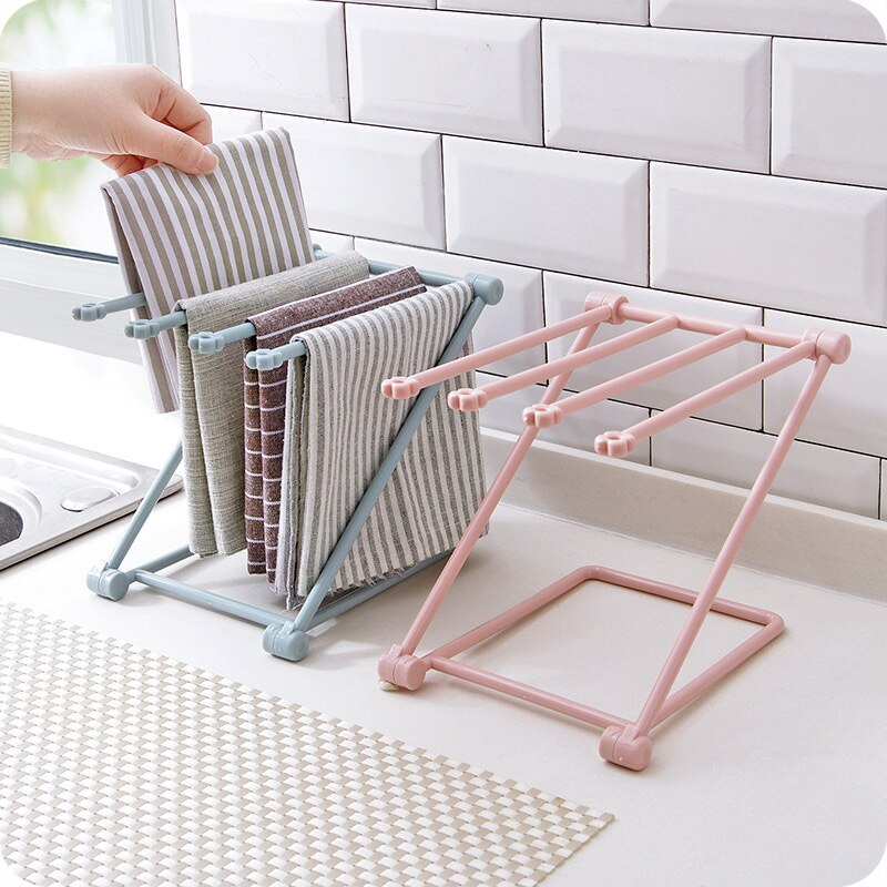 Rack Water Cup Rack Table Storage Rack Water Cup Rack Home Rack Plastic Foldable Vertical Rag Kitchen Towel Rack