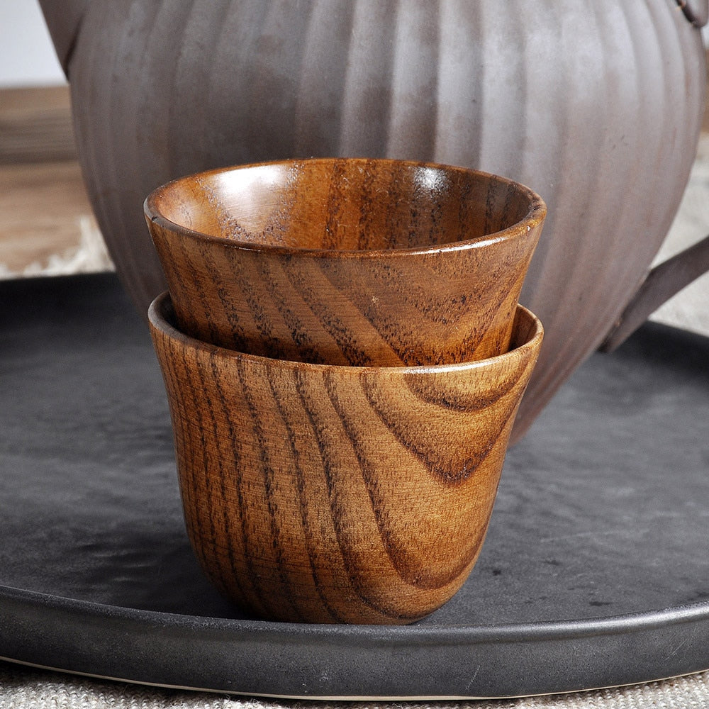 Wooden Cup Log Color Handmade Natural Wooden Coffee Tea Beer Juice Milk Mug Cup Water Cup tumbler Kitchen Accessories #BL1
