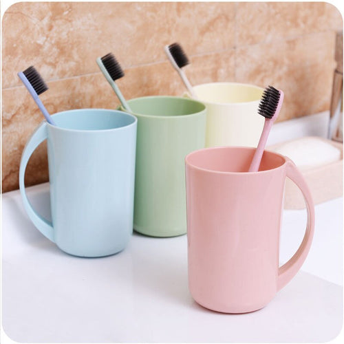 1PCS Plain Solid Eco-friendly Creative Thick Circular Water Cups Toothbrush Holder PP Cup Rinsing Cup Wash Tooth Mug Bathroom