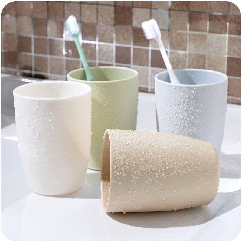 1PCS Modern Style Travel Mug Office Coffee Tea Water Bottle Cups Straw Wheat Plastic Toothbrush Cup Bathroom Tumblers Cups
