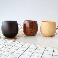 Load image into Gallery viewer, Natural Simple Big Belly Handmade Wooden Teacup Natural Spruce Wood Cups Beer Tea Coffee Milk Water Mug Kitchen Bar Drinkware
