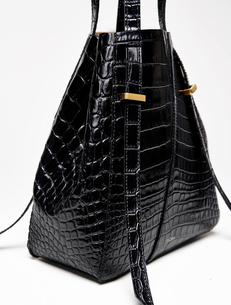 AYO TOTE Mini Black Croco