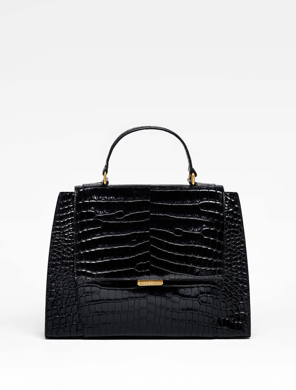 YEBA FIRST Medium Black Croco