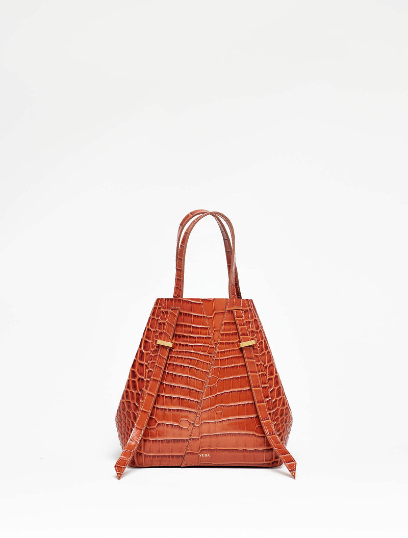 AYO TOTE Mini Rust croco