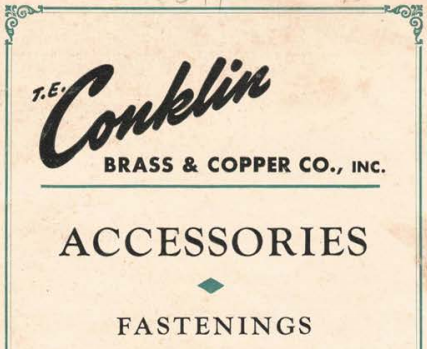Full Scan of the Vintage T.E. Conklin Brass & Copper Co Catalog from 1951