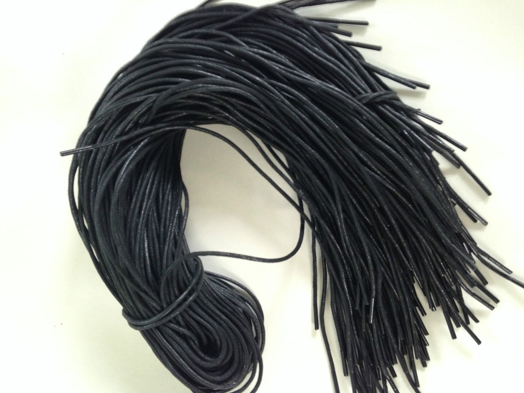 Pair of JL Golf Black waxed laces 90cm x 2.5mm Round
