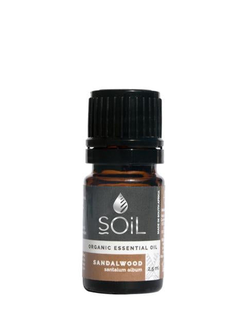 Organic Sandalwood Essential Oil (Santalum Album) 2.5ml