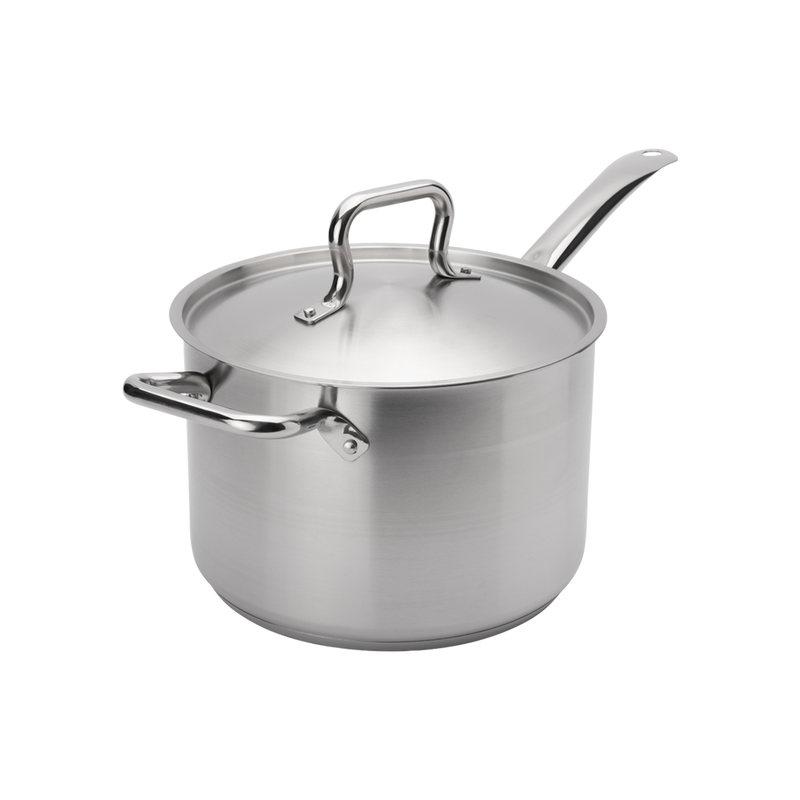 7.6 QT STAINLESS STEEL SAUCE PAN W LID
