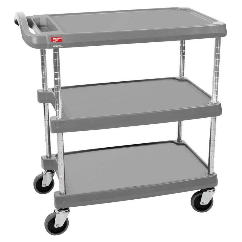 "3 SHELF CART GREY 20""X30"" METRO WIRE"
