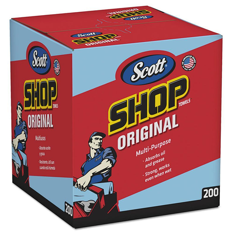 SCOTT ORIGINAL SHOP TOWEL 200/BOX 8BOX/CASE POP UP