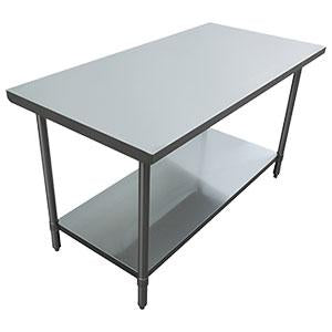 S/S WORK TABLE 30X60 W/ GALV. UNDER SHELF EFI