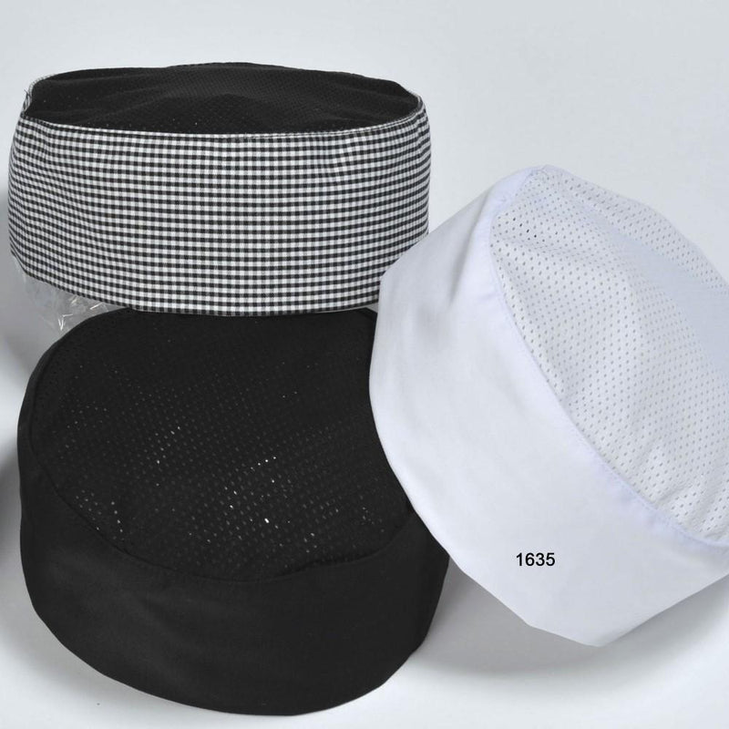 PILLBOX CAP W/MESH CROWN BLACK  PREUNI
