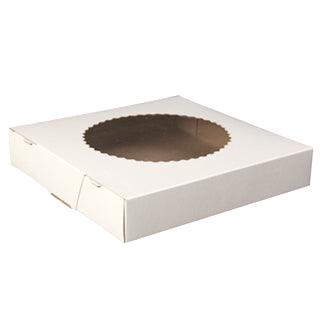 "CELLO PIE BOX 9X9X1.5"" 250/CS. WHITE"