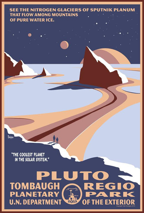 Pluto Planetary Park Magnet