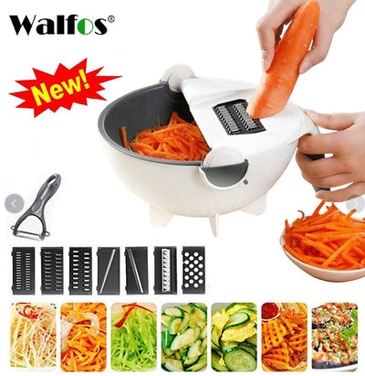 Multifunctional Vegetable Cutter Slicer With Drain Basket