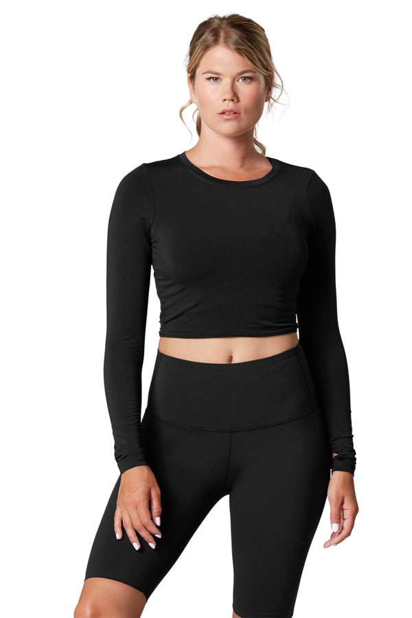 Arabesque Long Sleeve Crop Top