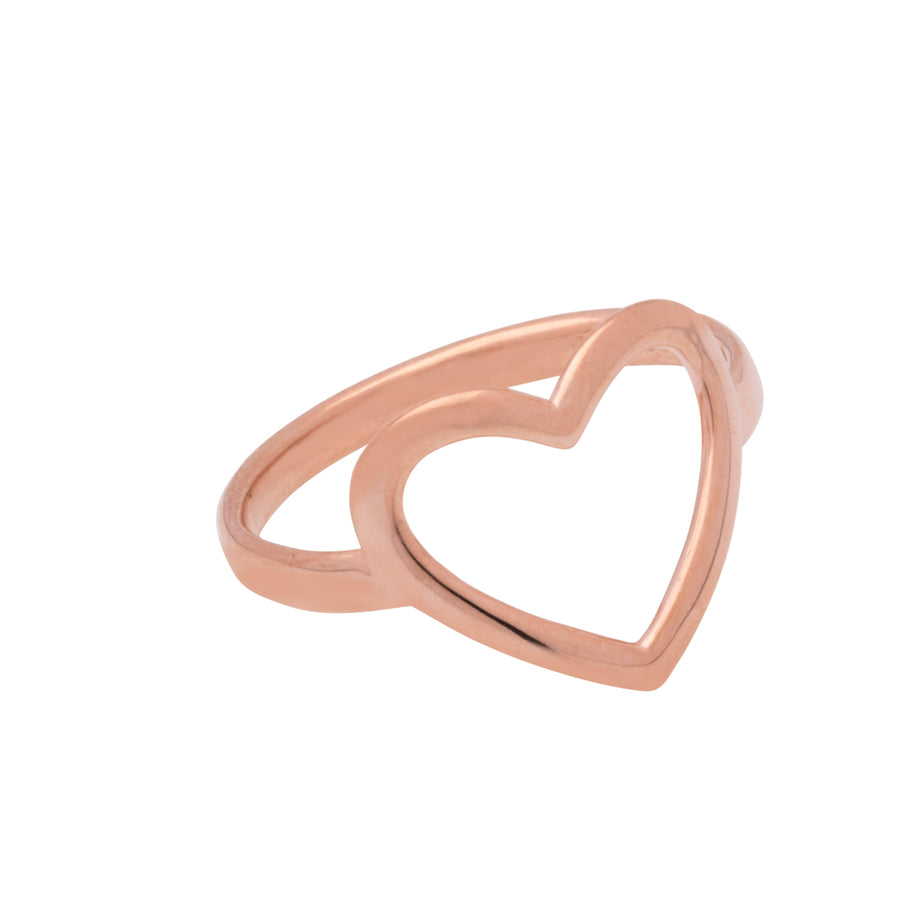 Open Heart Ring Roségold