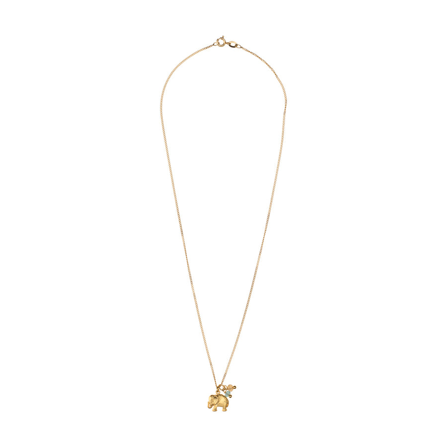Love Chain Happy Elephant Gold mit Citrinen