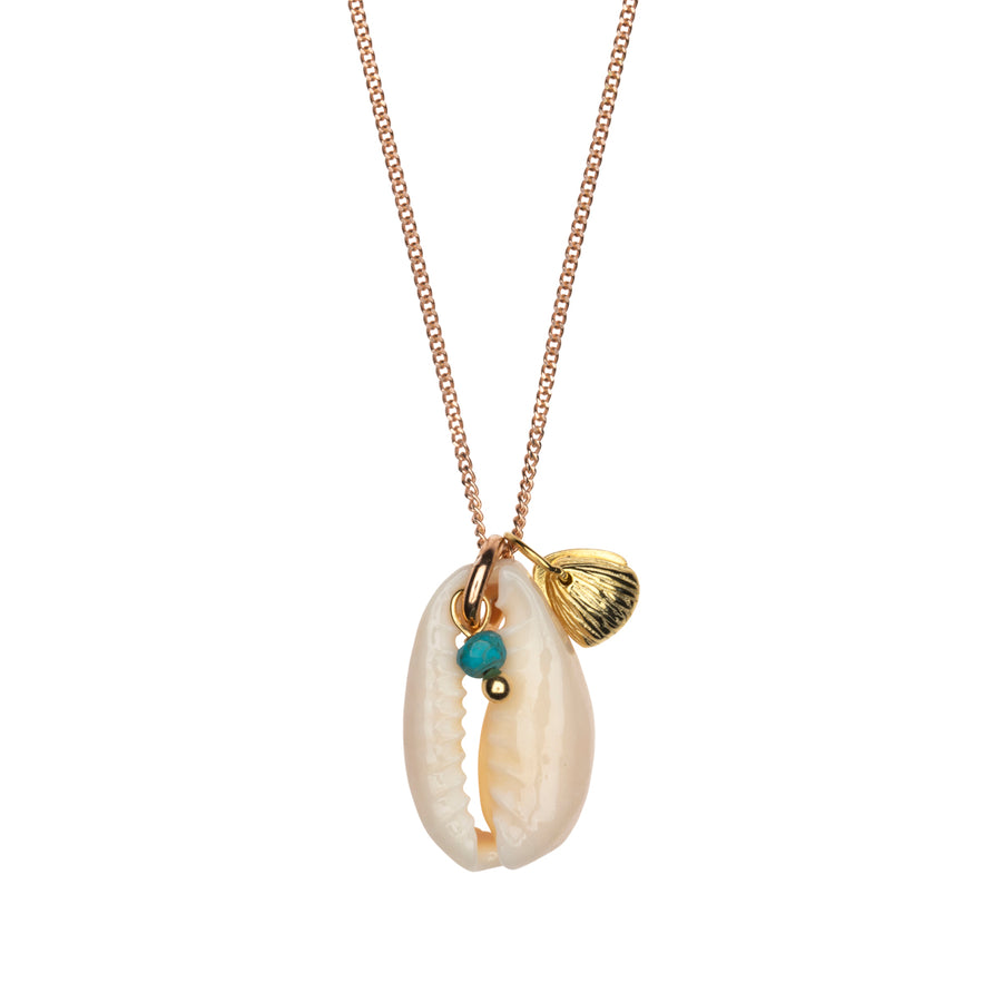 Love Chain Kauri Shell Gold-Mix, Türkis