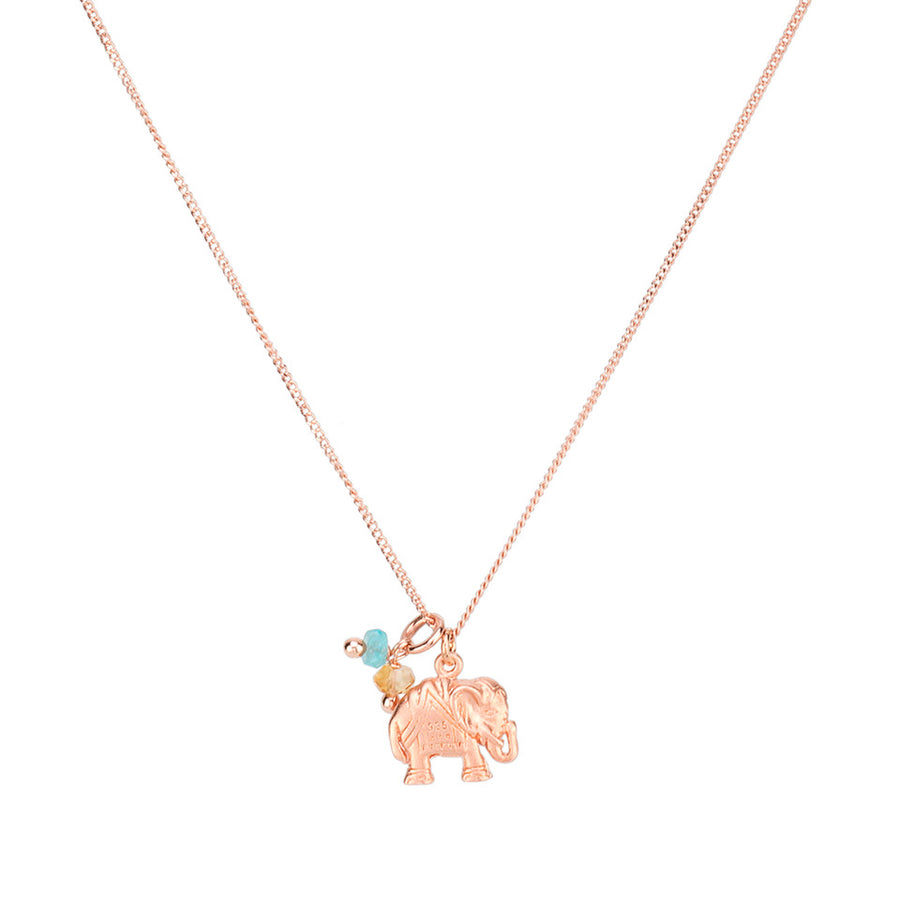 Love Chain Happy Elephant Roségold mit Citrinen