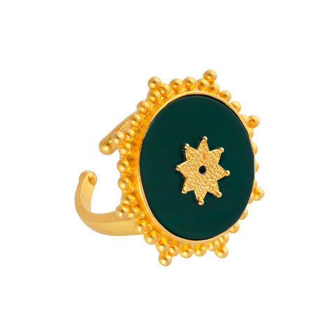Sonnenmandala Ring, Gold