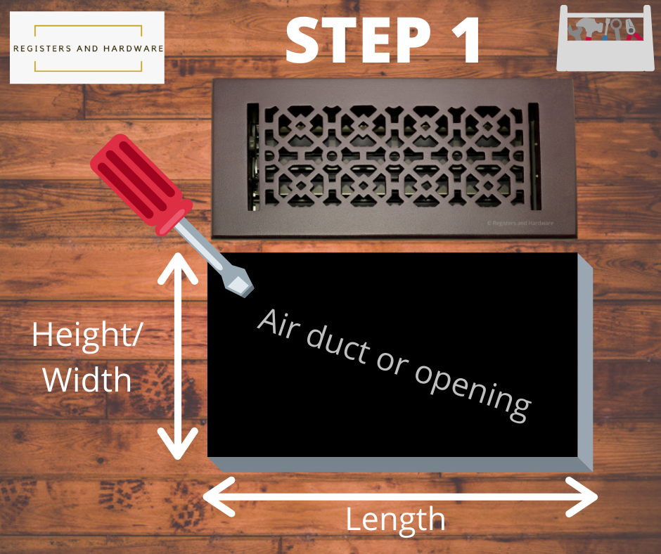 How do you measure vent cover duct size