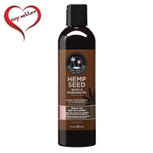 Load image into Gallery viewer, Earthly Body 8 oz. Hemp Seed Massage Oil - Multiple Scents - A Little More Interesting