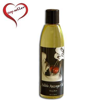 Earthly Body 8 oz. Edible Massage Oil - A Little More Interesting