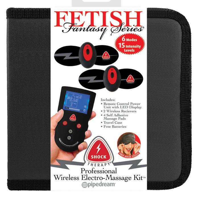 Pipedream Products Fetish Fantasy Shock Therapy Professional Wireless Electro-Massage Kit - A Little More Interesting