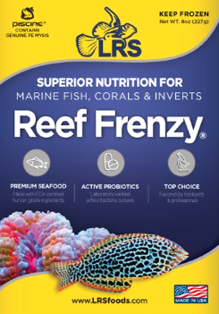 Larry's Reef Services Reef Frenzy food