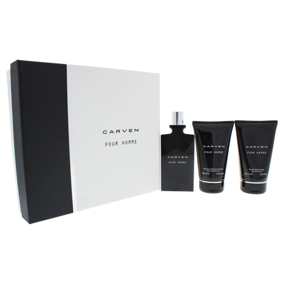 Carven Pour Homme Gift Set 100ML EDT + 100ML Aftershave Balm + 100ML Shower Gel