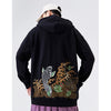 Japanese Leaping Koi Embroidery Hoodie - 5 ELEMENTS