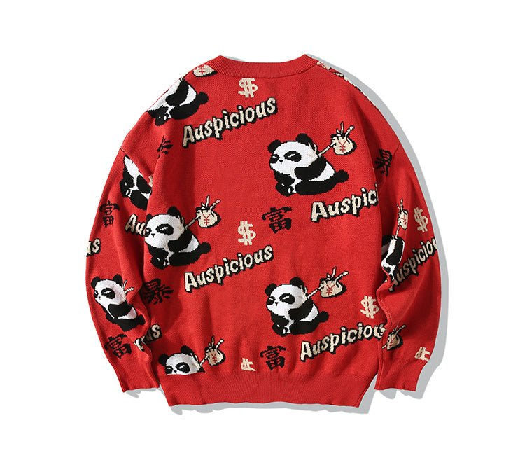 Panda Got Rich Sweater - 5 ELEMENTS
