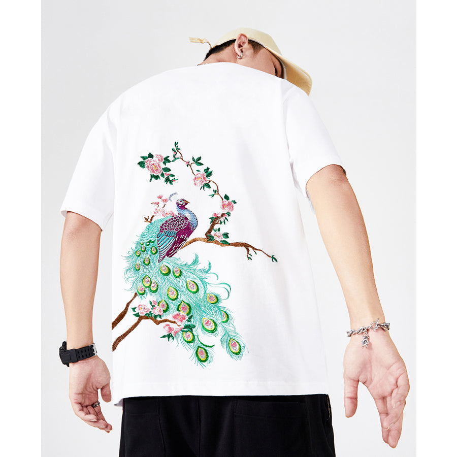 Floral Peacock T-shirt - 5 ELEMENTS