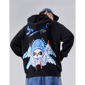 Peking Opera Panda Hoodie - 5 ELEMENTS