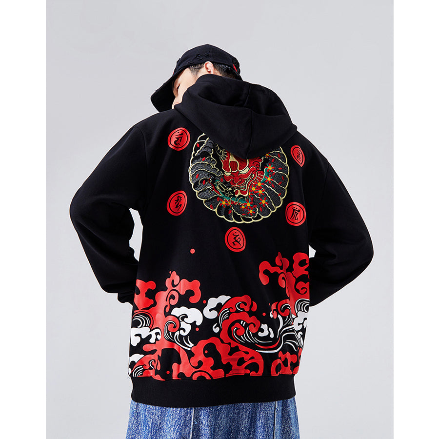 Japanese Demon Hoodie - 5 ELEMENTS