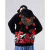 Japanese Demon Embroidery Hoodie - 5 ELEMENTS