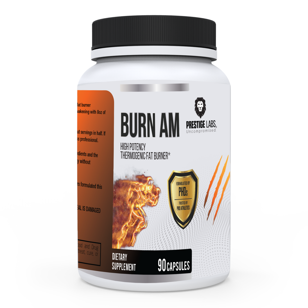 Burn AM - HIGH POTENCY THERMOGENIC FAT BURNER SUPPLEMENT - FREE SHIPPING