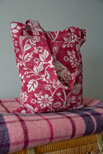 Load image into Gallery viewer, Tote Bag Handmade with Red Heathland Animal Print Cotton