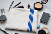 Load image into Gallery viewer, Make-up Bag Handmade with Vintage French Striped Cotton