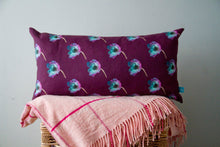 Load image into Gallery viewer, Long Cushions with Anemone Photographic Print and Purple Linen