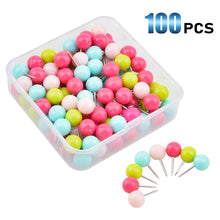 Load image into Gallery viewer, 100pcs Assorted Plastic Round Head Tacks-INC-YF13-060