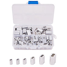 Load image into Gallery viewer, 180pcs 6 Sizes Double Barrel Ferrule Crimping Loop Sleeve Assortment Kit-INC-HW13-014