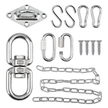 Load image into Gallery viewer, 360° Rotational Device Hanging Accessory Hammock Chair Chain Kit -INC-YF13-110