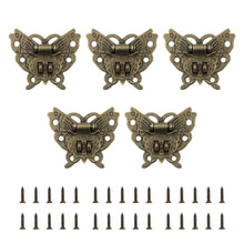 Load image into Gallery viewer, 5pcs Alloy Butterfly Vintage Jewelry Box Suitcase Hasp Latch Buckle Lock-INC-HW14-046