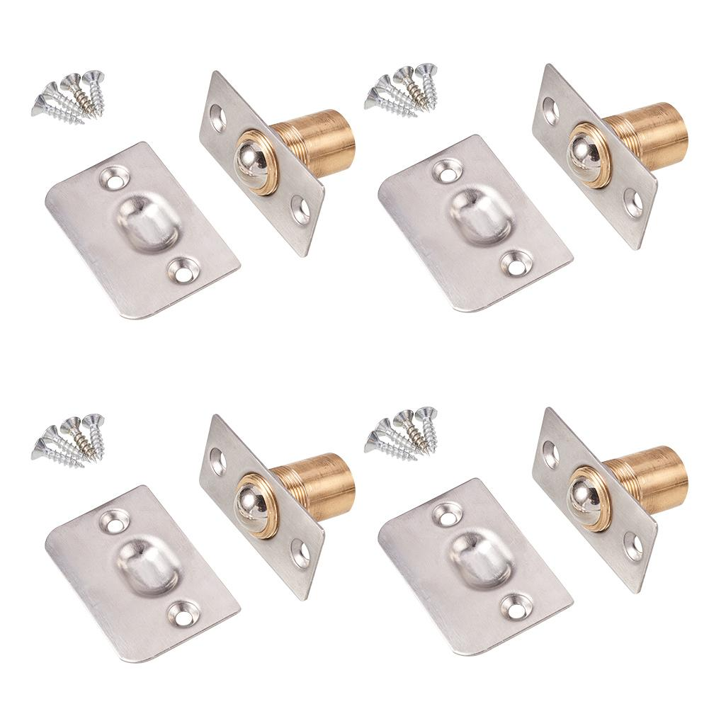 4 Sets Adjustable Cabinet/Closet/Door Ball Catch/Latch(Stainless Steel+ Copper)-INC-HW13-211