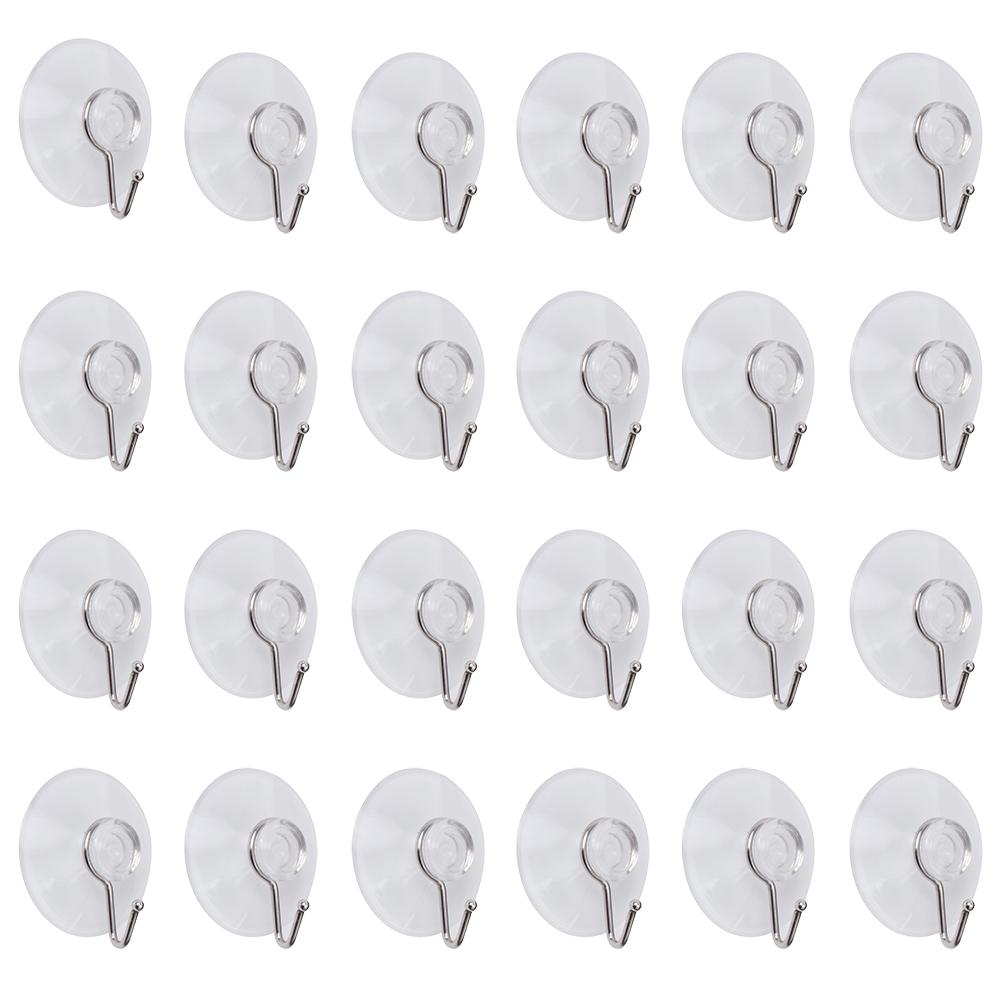 24Pcs Clear Suction Cup Hooks-INC-HW18-028